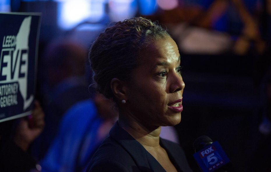 Leecia Eve is counting on her Buffalo political roots and knowledge gained while working on statewide issues as she runs for New York  attorney general.  (Photo by Kevin Hagen/Getty Images)