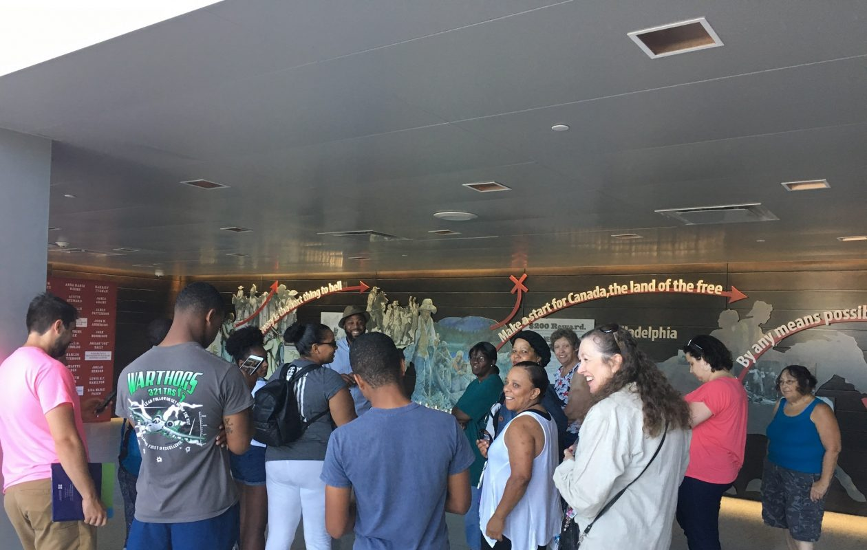 Participants in Let's Go Walk! visited the Underground Railroad Heritage Center in Niagara Falls on Aug. 11. (Courtesy Cornell Cooperative Extension of Niagara County)
