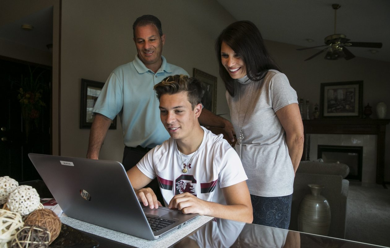 Nick Peters, the son of Christopher and Kim Peters of Wheatfield, will soon leave for his freshman year at the University of South Carolina. The family has planned for potential medical emergencies and nonemergencies as part of Nick's preparations. (Shuran Huang/Buffalo News)