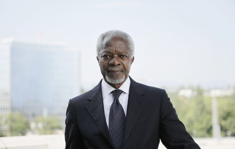Kofi Annan, the former United Nations secretary general, pictured in 2012. Annan died on Aug. 18, 2018. He was 80. (Christoph Bangert/The New York Times)