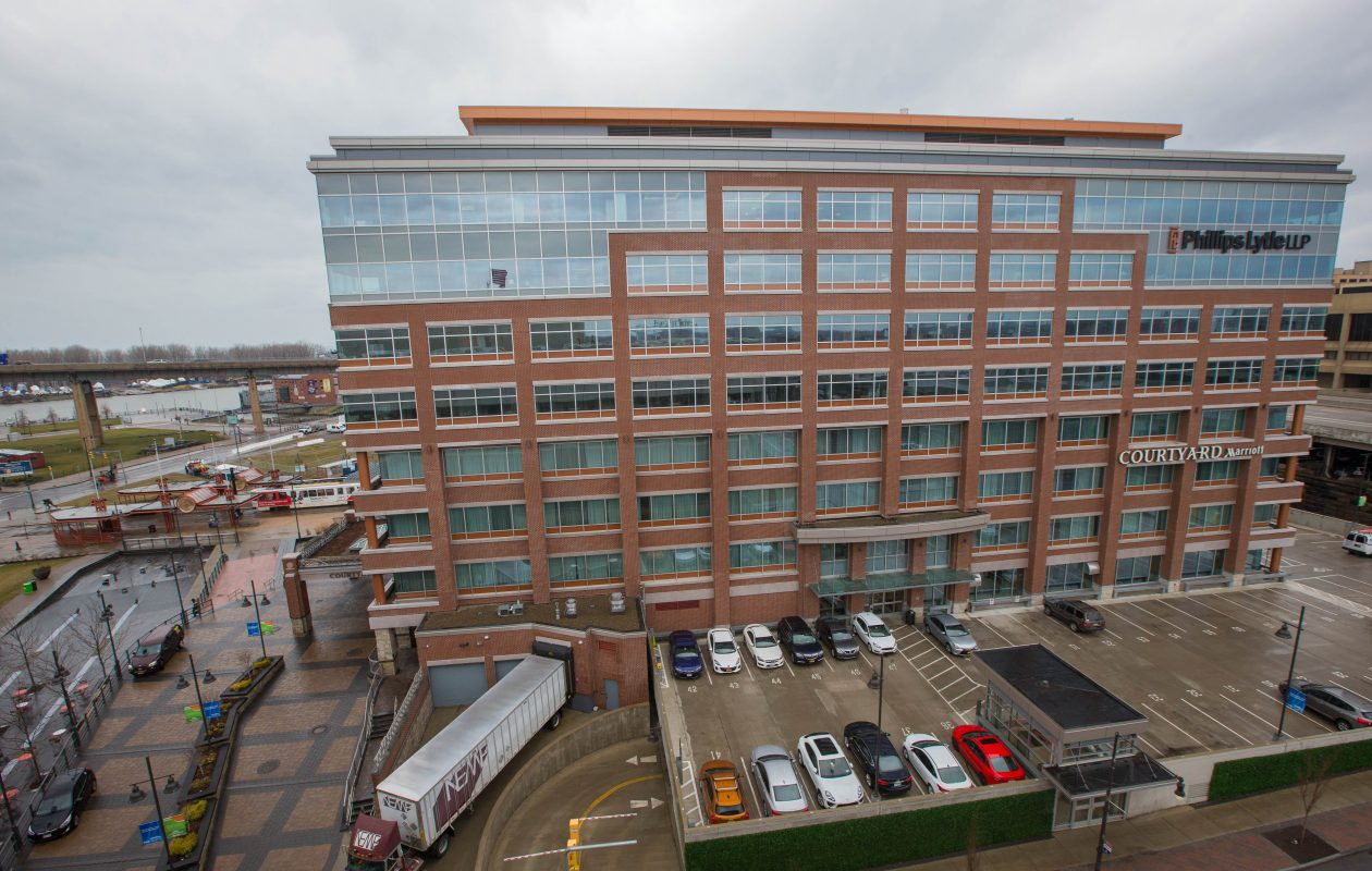 Benderson Development Co. is getting a tax cut totaling $5.9 million over 12 years for its conversion of the former Donovan State Office Building into One Canalside. It qualified for the tax break only because it also has a single, 904-square-foot apartment. (Derek Gee/News file photo)