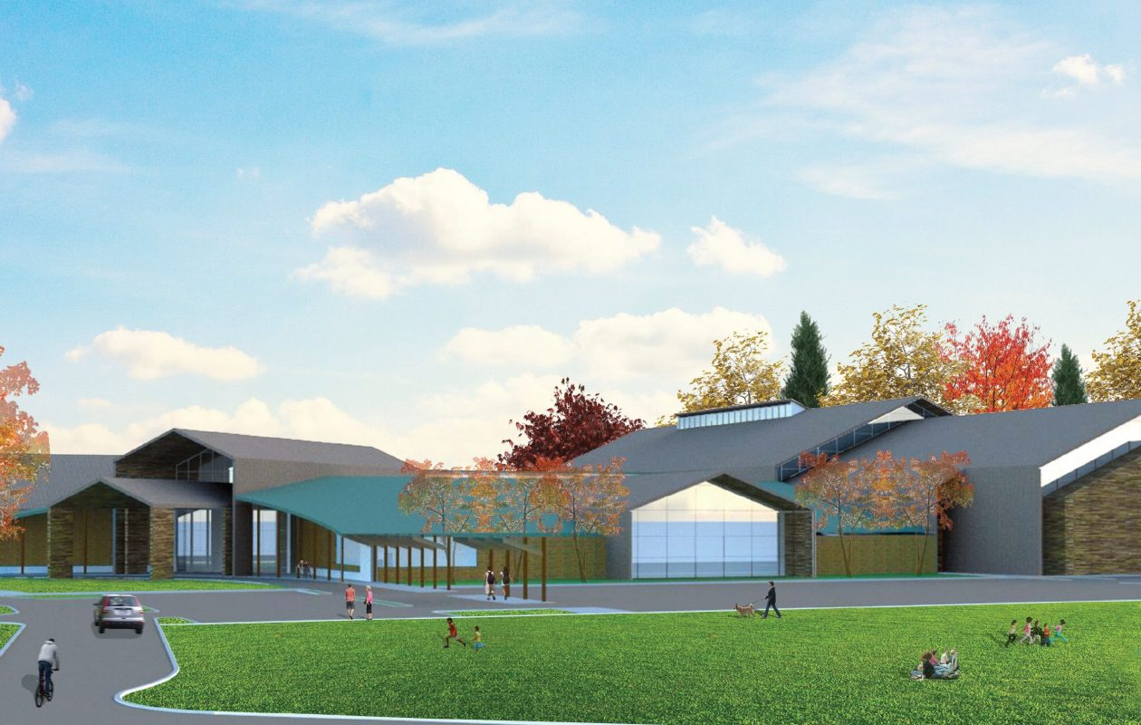 Rendering of the Orchard Park Community Activity Center.