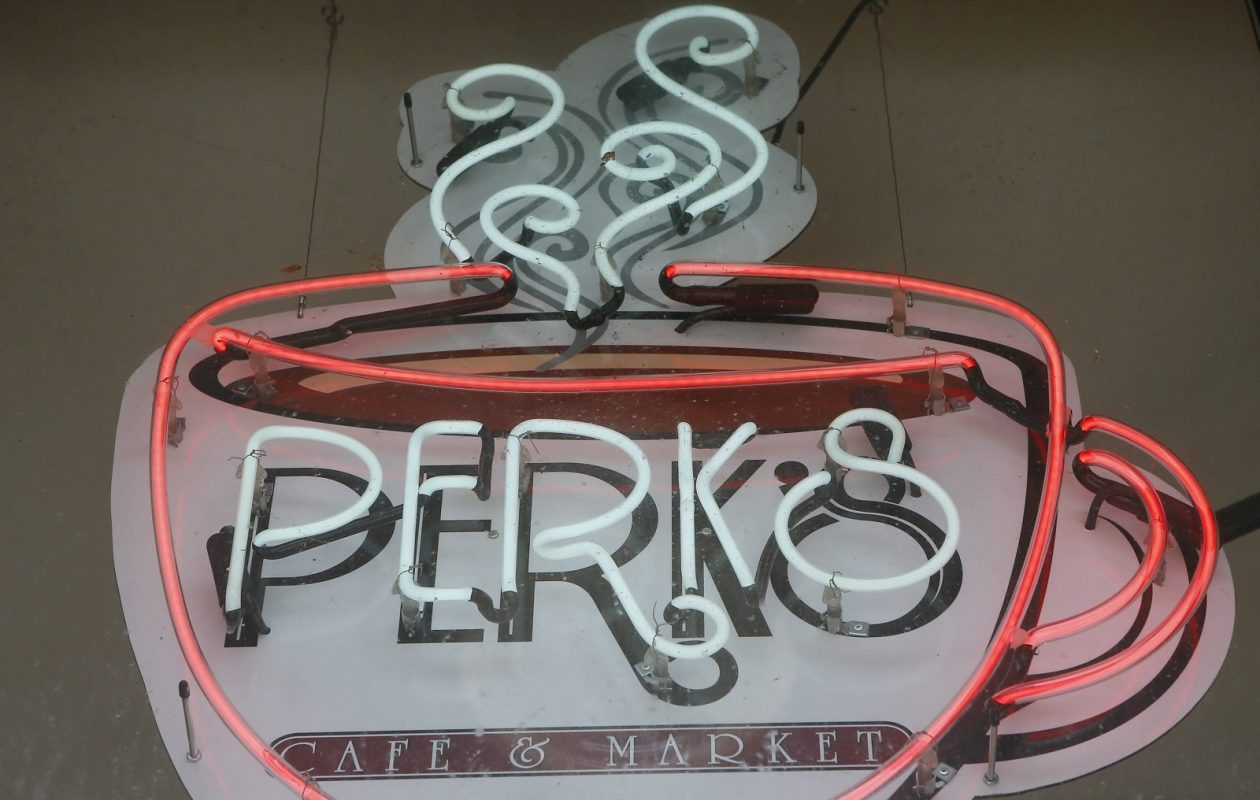 Perks Cafe in the Sidway Building is closing in a dispute with its landlord. (Derek Gee/Buffalo News)