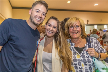 Smiles at Polish Happy Hour in St. Stanislaus Church