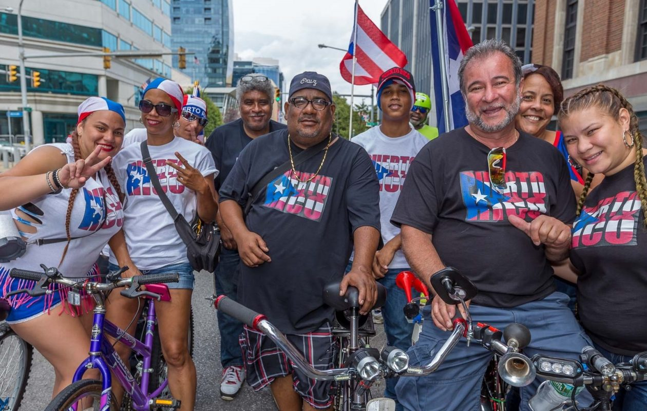 Smiling faces at the Puerto Rican Day Parade in Niagara Square in 2017. (Don Nieman/Special to The News)