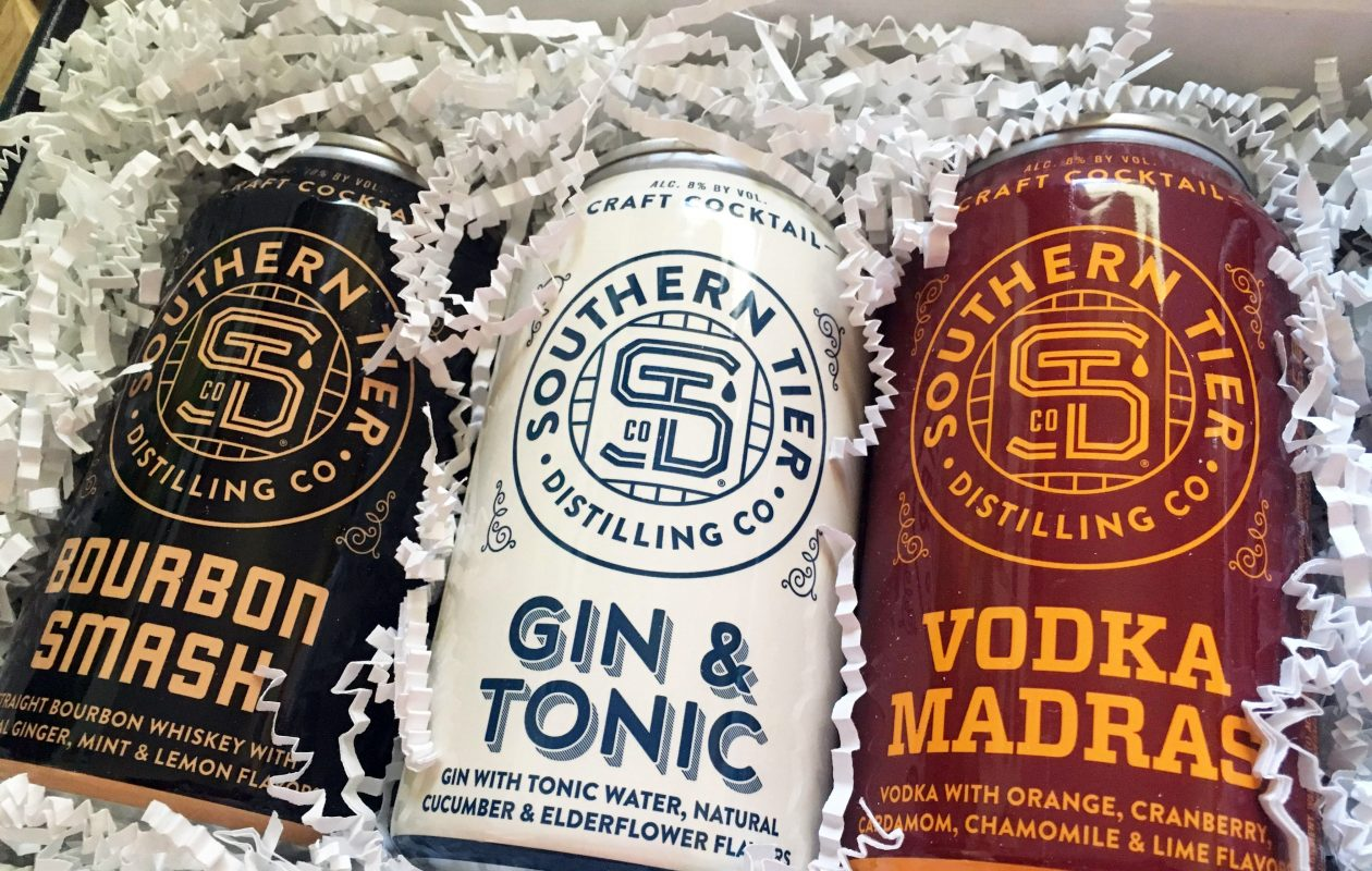 Southern Tier Distilling created a new canned cocktail line available at local liquor stores. (Photo by Emeri Krawczyk)