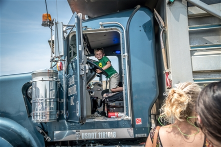 More than 40 trucks filled The Buffalo News parking lot Sunday for this Explore & More event.