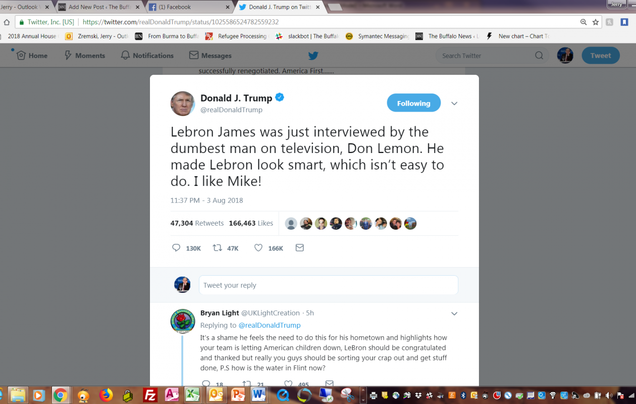 President Trump's late-night Tweet on Friday attacking basketball superstar LeBron James.