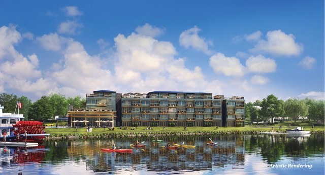A rendering of the planned Lodge at Chautauqua Lake condo resort, by the Webb family of Mayville, N.Y.