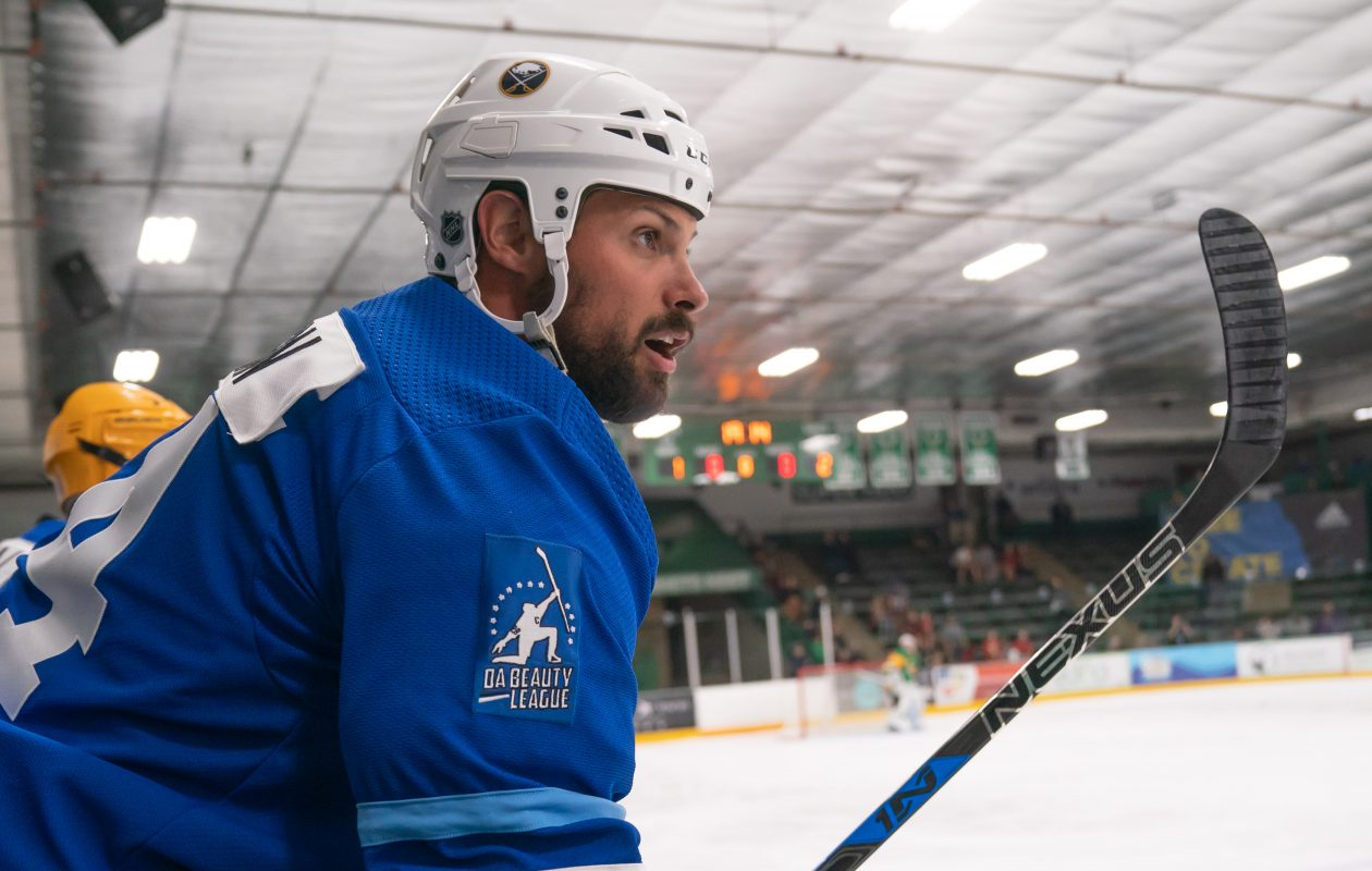 Zach Bogosian skated Wednesday morning with the Sabres. Bogosian sustained a lower-body injury in a preseason game Sept. 25. (Glen Stubbe/Special to The News)