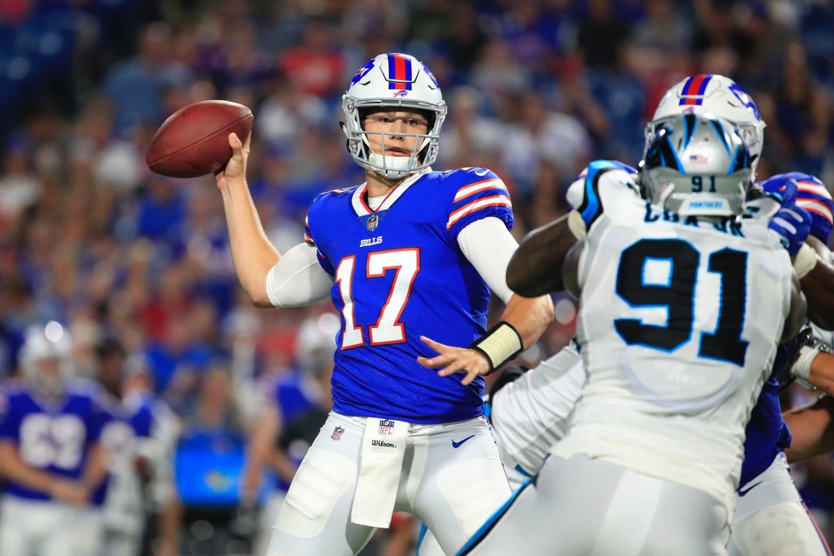Rookie quarterback Josh Allen will make his first career start Sunday in the home opener. (Harry Scull Jr./Buffalo News)