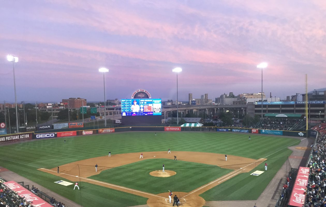The Bisons open their season in newly named Sahlen Field on April 4.(News file photo)