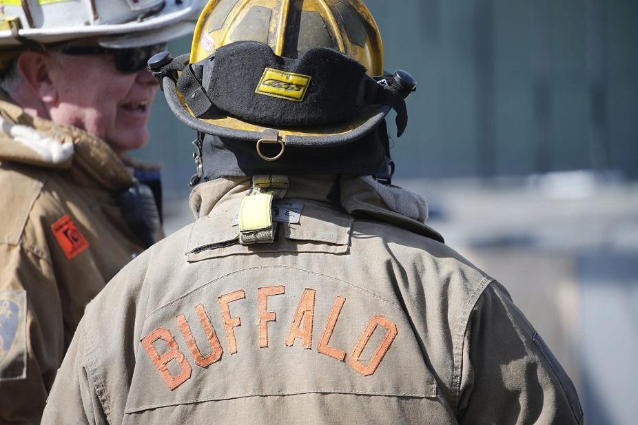 Buffalo Firefighters battle a blaze in 2016.  (Derek Gee/News file photo)