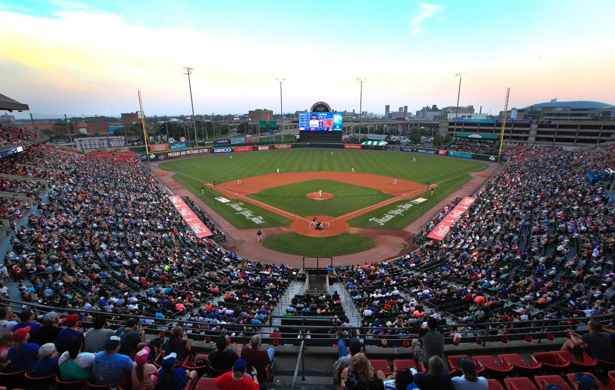 The Bisons sold 16,314 tickets for Fan Appreciation Night, pushing their per-game attendance total to its highest mark since 2013. (Harry Scull Jr./Buffalo News)
