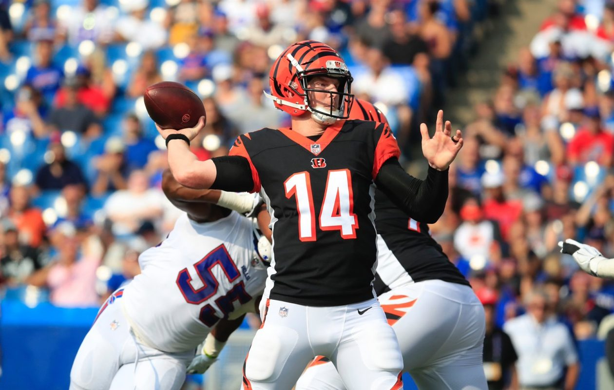 Bengals quarterback Andy Dalton carved up the Bills' secondary Sunday at New Era Field. (Harry Scull Jr./Buffalo News)