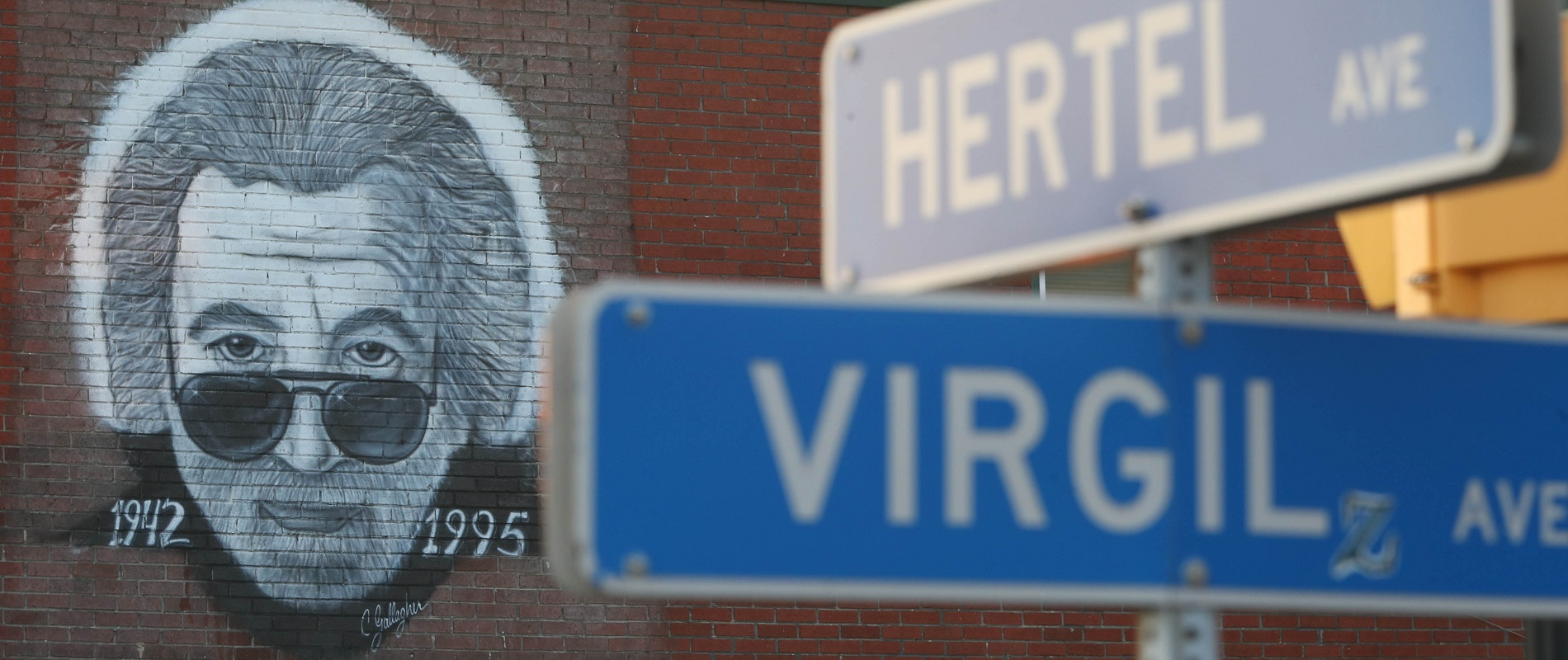 The Jerry Garcia mural at Terrapin Station is a Hertel Avenue landmark. (Sharon Cantillon/Buffalo News)