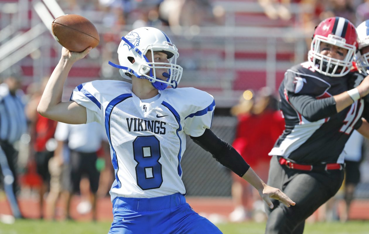 Grand Island quarterback Cam Sionko threw for 1,400 yards and 14 touchdowns last year. (Harry Scull Jr./Buffalo News)