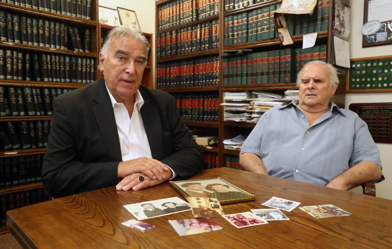 Kevin Young, left, and Shannon Young in their attorney's office in 2017. (News file photo)