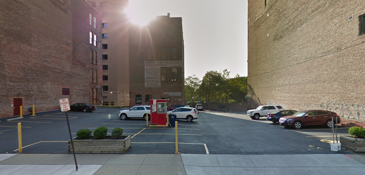 The Ellicott parking lot at 100 Pearl St. will now be operated by Allpro. (Google Maps)