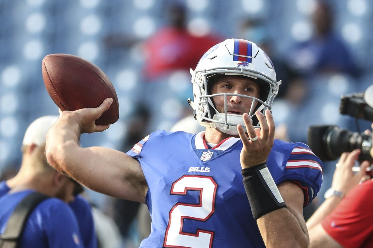 Forecasts show the sun should literally shine on Nathan Peterman and the Buffalo Bills Sunday at New Era Field. (James P. McCoy/Buffalo News file photo)