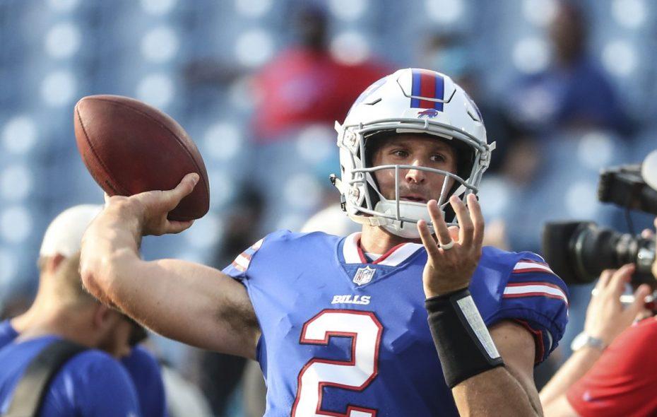 Nathan Peterman gets loose at New Era Field. (James P. McCoy/Buffalo News file photo)