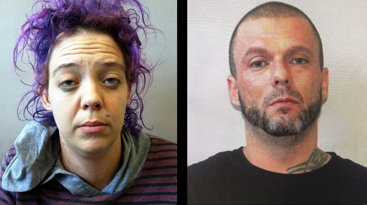 Jerrica J. McKune, 31, of Olean, and Justin L. Safford, 38, of Allegany, were arrested Friday morning. (Olean Police)