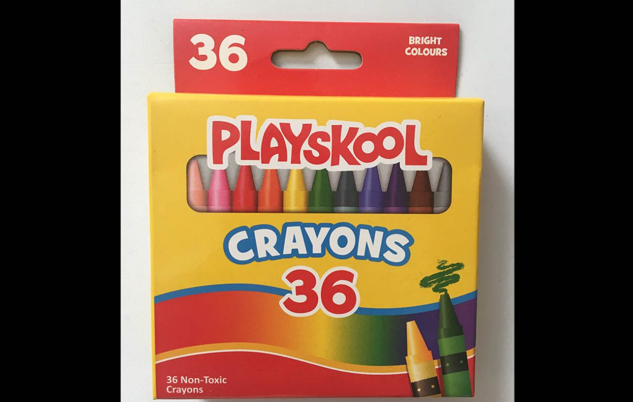 These crayons tested positive for asbestos. (Contributed photo)