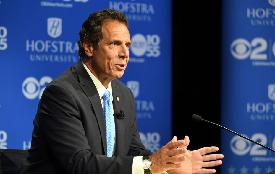 Gov. Andrew M. Cuomo reminded corporate leaders Tuesday of his record in Albany.  (Photo courtesy of Newsday)