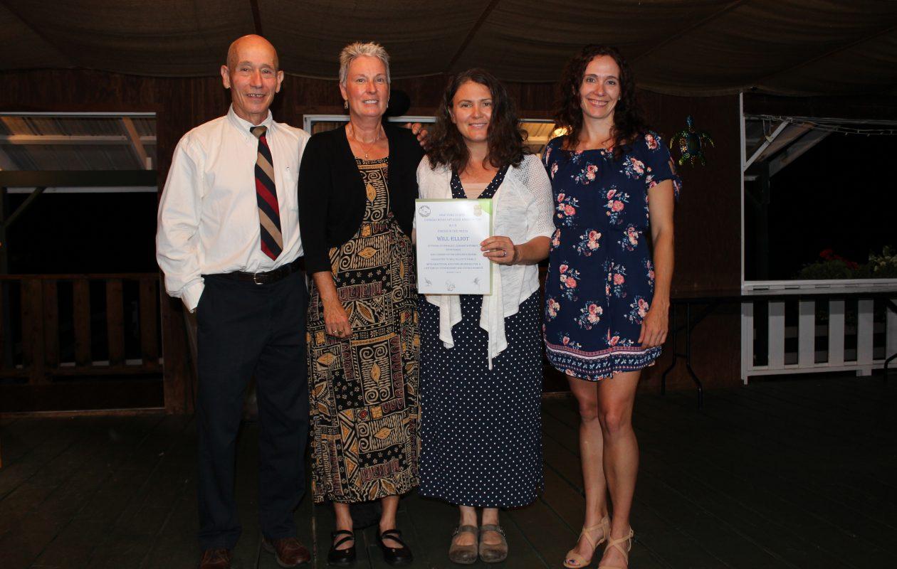 From left, Retired DEC Captain Gary Bobseine, Jean Elliott, Will's daughter Dawn Oefelein, Lt. Liza Bobseine.