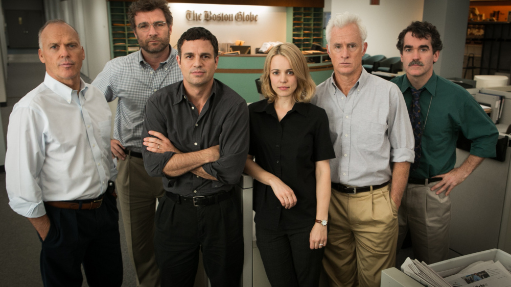 The Oscar-winning film 'Spotlight' will be shown as part of Buffalo Film Seminars. It stars, from left, Michael Keaton, Liev Schreiber, Mark Ruffalo, Rachel McAdams, John Slattery and Brian D'arcy.