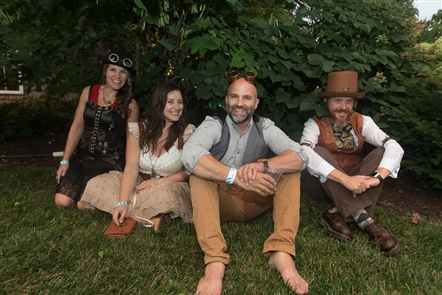 Smiles at SteamPunk Festival at Leonard Oakes Estate Winery