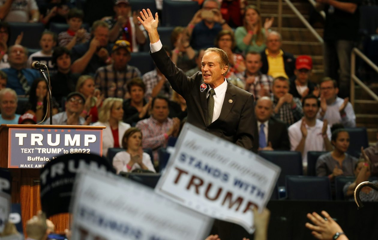 Rep. Chris Collins at a 2016 campaign rally for Donald Trump.. (Harry Scull Jr./News file photo)