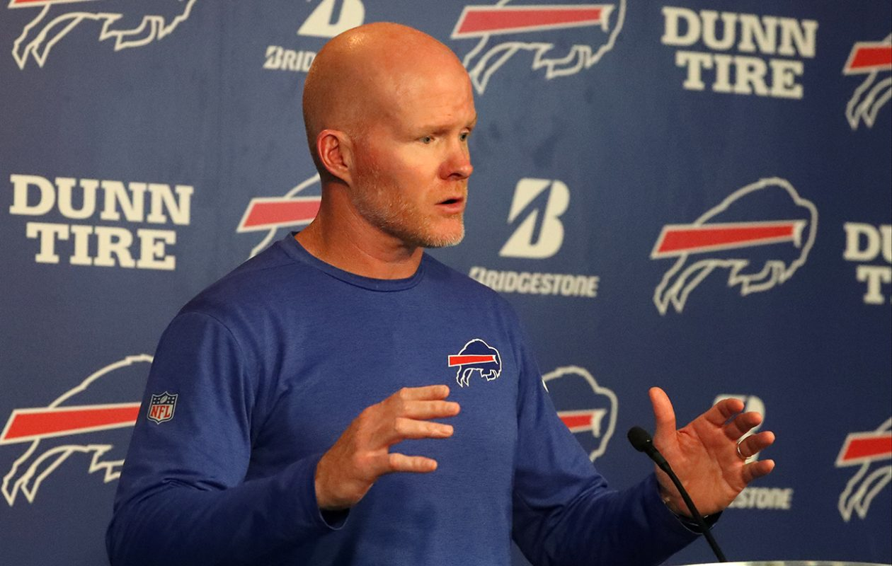Buffalo Bills head coach Sean McDermott. (James P. McCoy/Buffalo News)