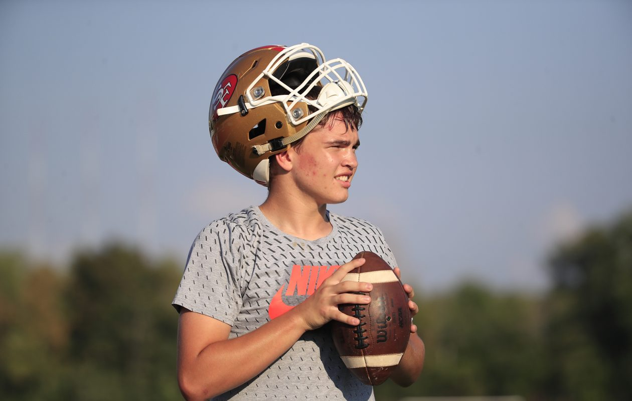St. Francis quarterback Jake Ritts on Wednesday, Sept. 5, 2018. (Harry Scull Jr./ Buffalo News)