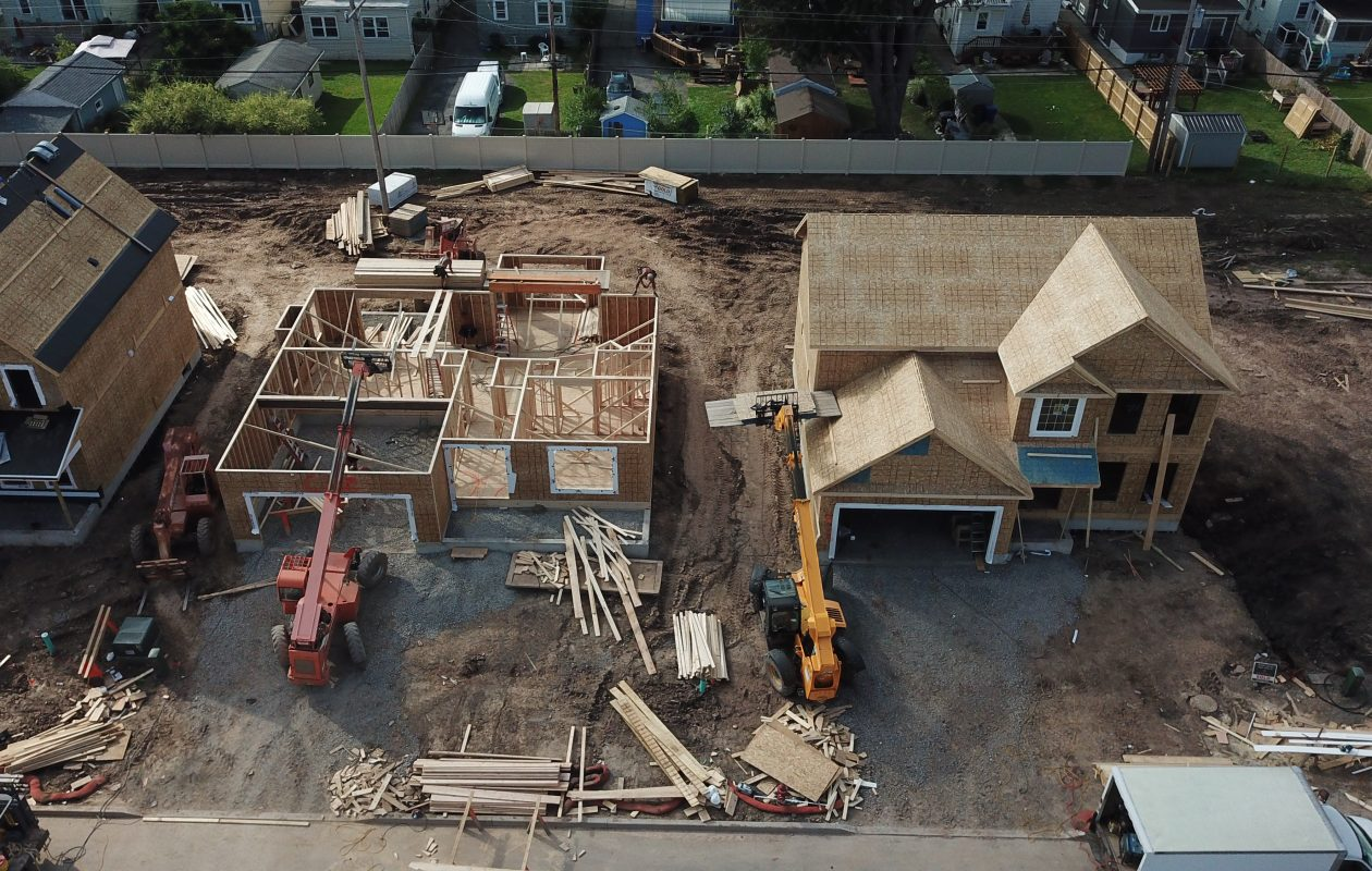 New homes take shape at Colvin Estates in North Buffalo. (John Hickey/Buffalo News)