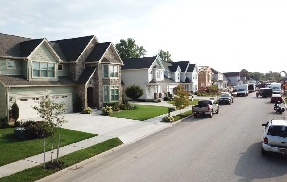 New home construction at Colvin Estates at Rachel Vincent Way off Colvin Boulevard. (John Hickey/Buffalo News)