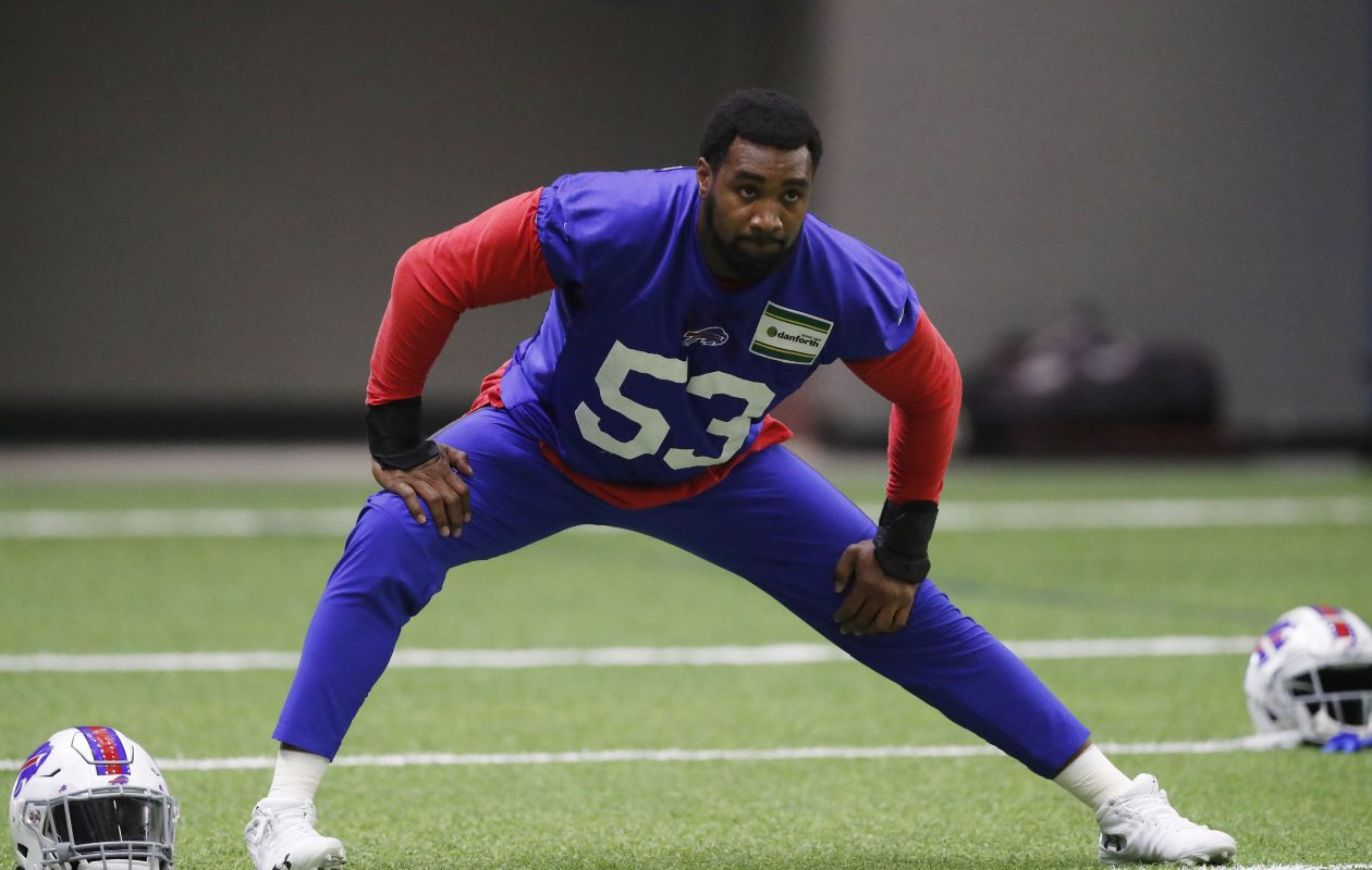Nate Orchard was signed by the Bills in time for the game against the Chargers last week. (Mark Mulville/Buffalo News)