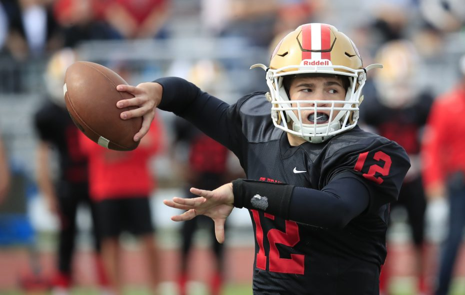St. Francis quarterback Jake Ritts had a big day during the Red Raiders' win over Cardinal O'Hara. (Harry Scull Jr./ Buffalo News)