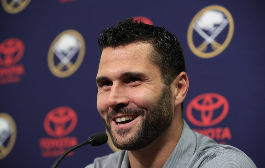 Brian Gionta said Monday he was at peace with his decision to retire from the NHL. (Harry Scull Jr./Buffalo News)