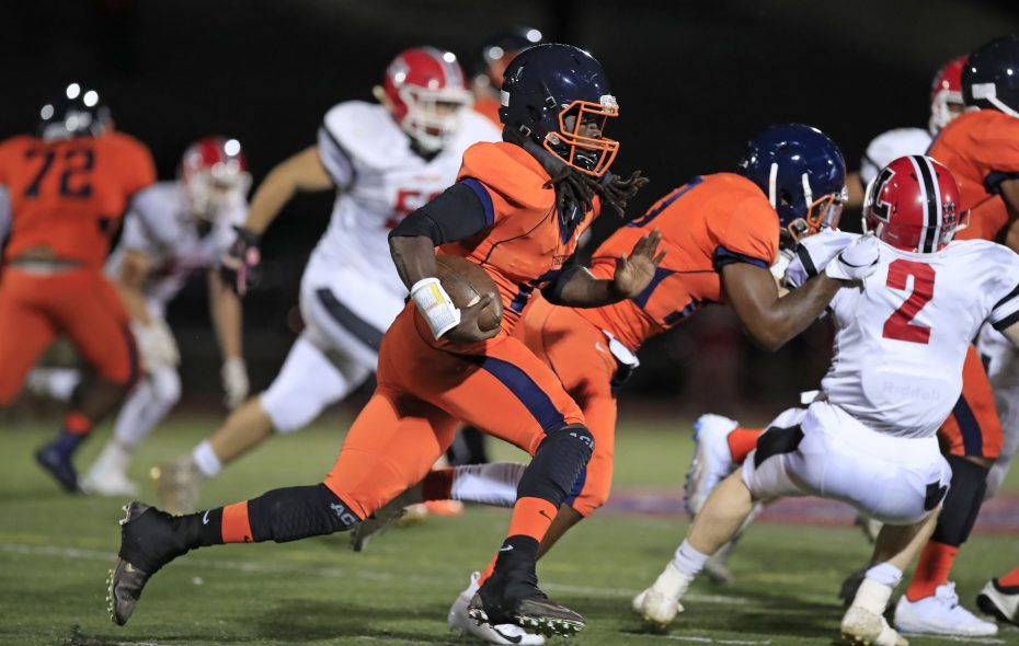 Bennett running back D'Jae Perry had 274 yards on 13 carries and two touchdowns in Thursday's win over Lancaster. (Harry Scull Jr./ Buffalo News)