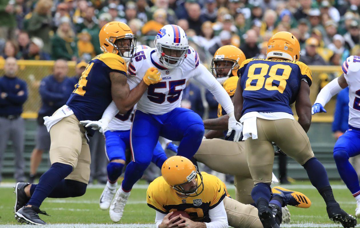 Bills defensive end Jerry Hughes has applied plenty of pressure to opposing quarterbacks this season. (Harry Scull Jr./Buffalo News)