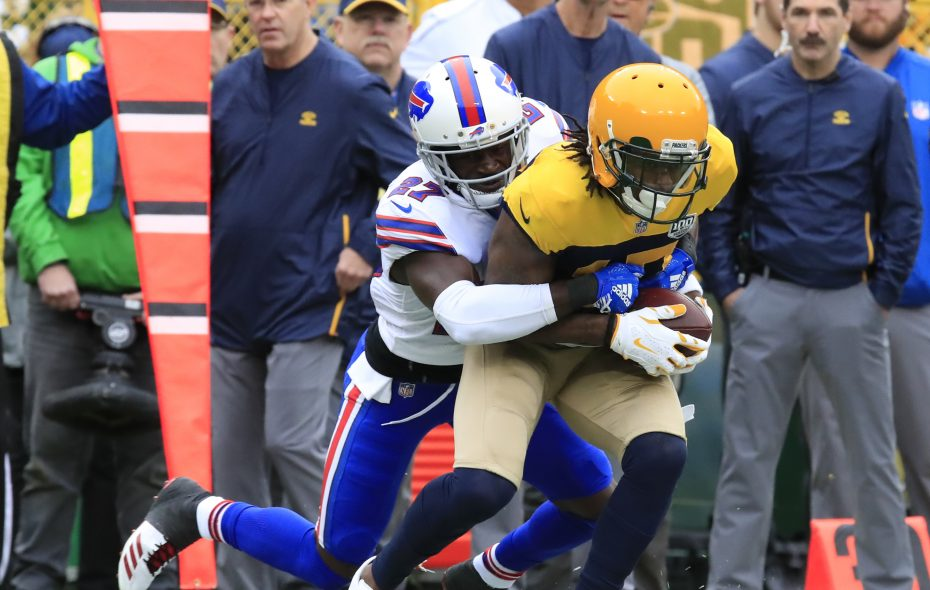Bills cornerback Tre'Davious White has consistently matched up with the opposition's No. 1 receiver, like Green Bay's Davante Adams. (Harry Scull Jr./Buffalo News)