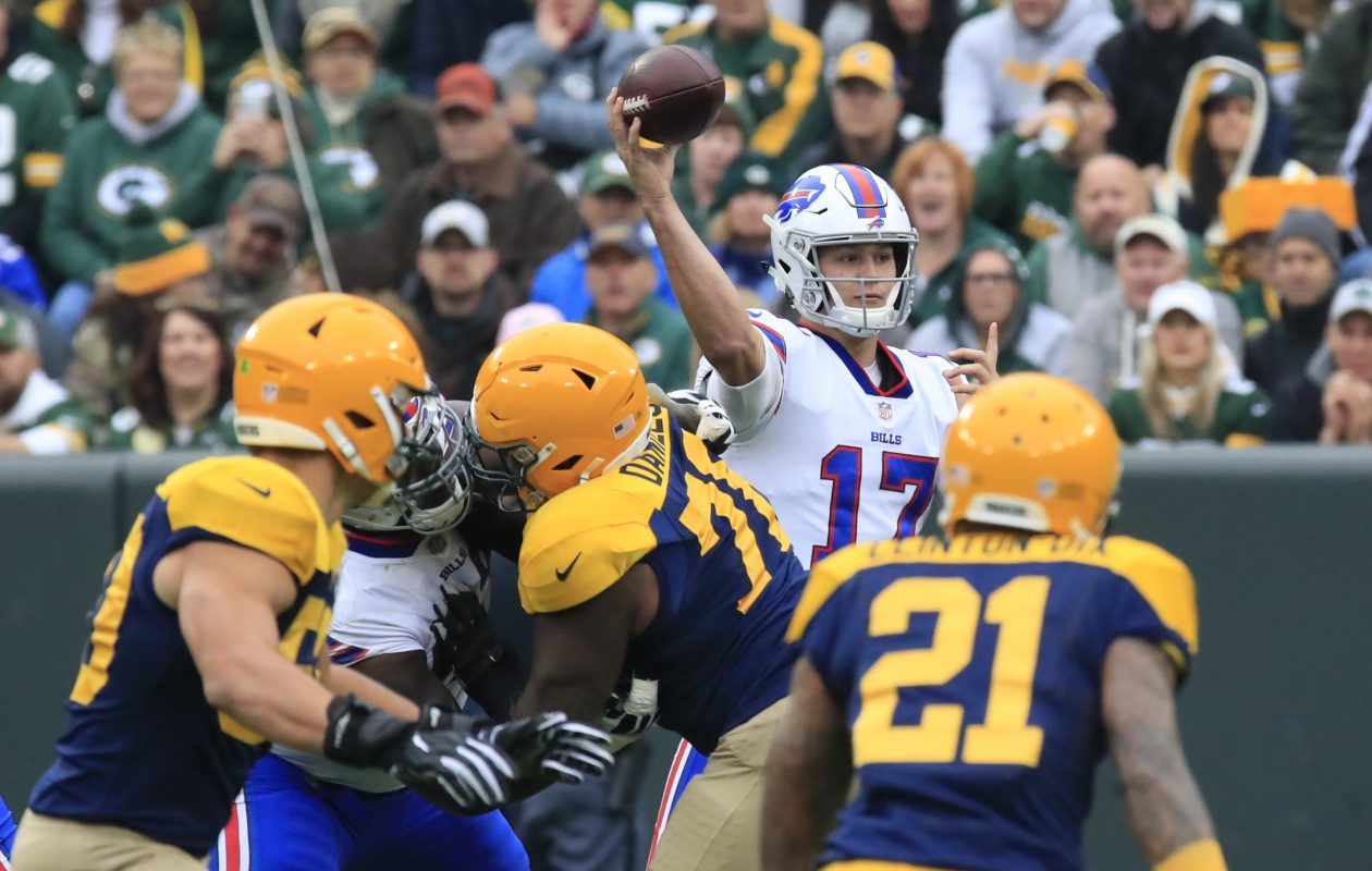 Through a quarter of the season, Josh Allen remains the Bills' leading rusher, which is a problem. (Harry Scull Jr./Buffalo News)