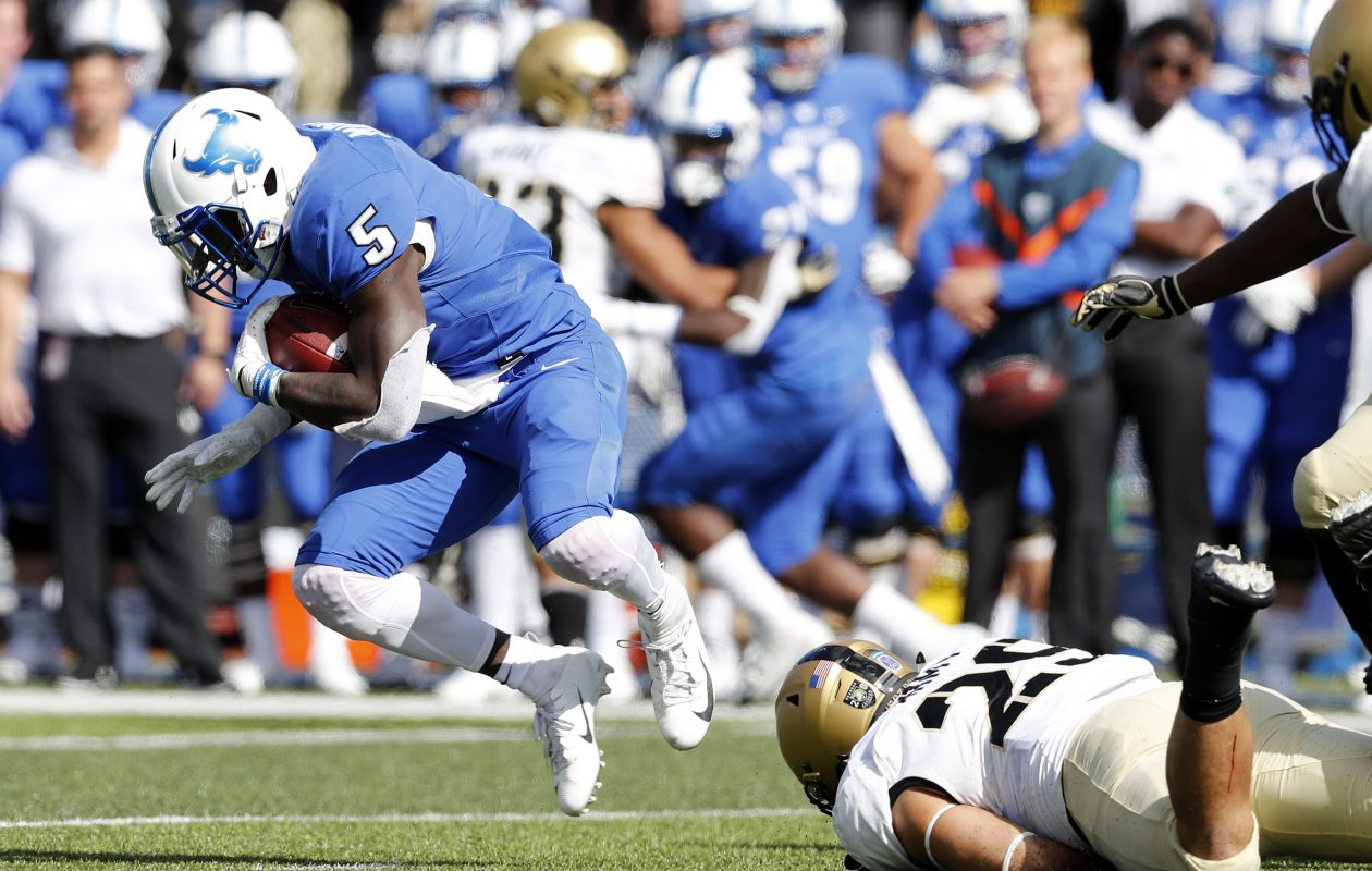 UB's Kevin Marks ran for 167 yards and a touchdown on 18 carries Saturday at Central Michigan. (Mark Mulville/News file photo)