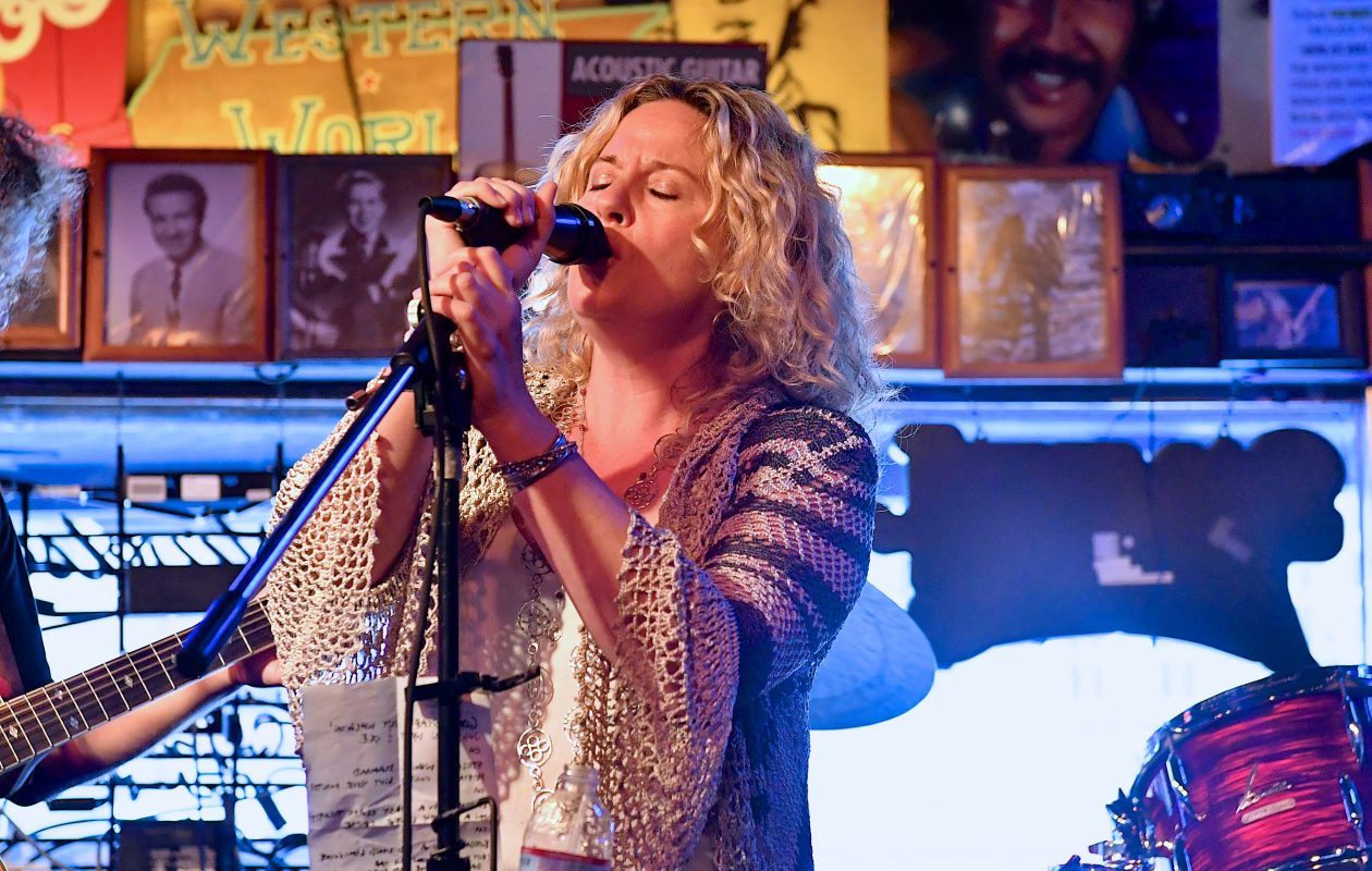 Amy Helm, pictured performing in Nashville in September, 'kept it goin' ' with her concert at Buffalo Iron Works. (Getty Images)