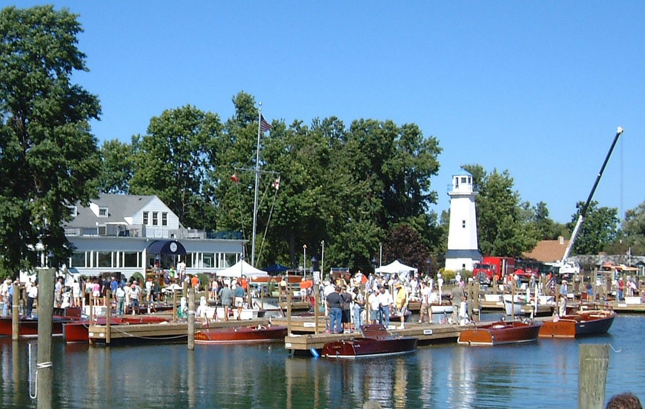 Antique boats like these will be on display on Grand Island this weekend. (News file photo)