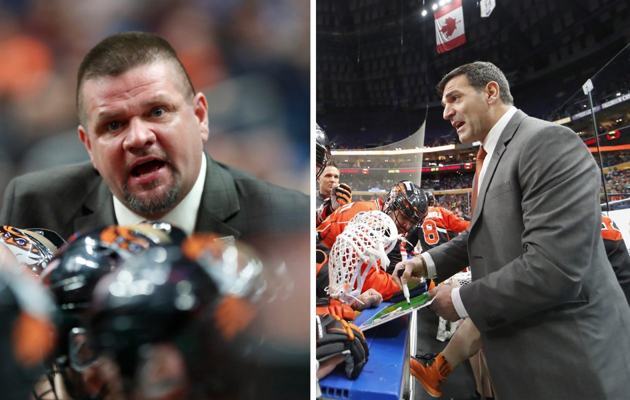 Rich Kilgour (left) and John Tavares (right) will take over as co-head coaches for the Bandits this season. (Photos by Harry Scull Jr. / Buffalo News)