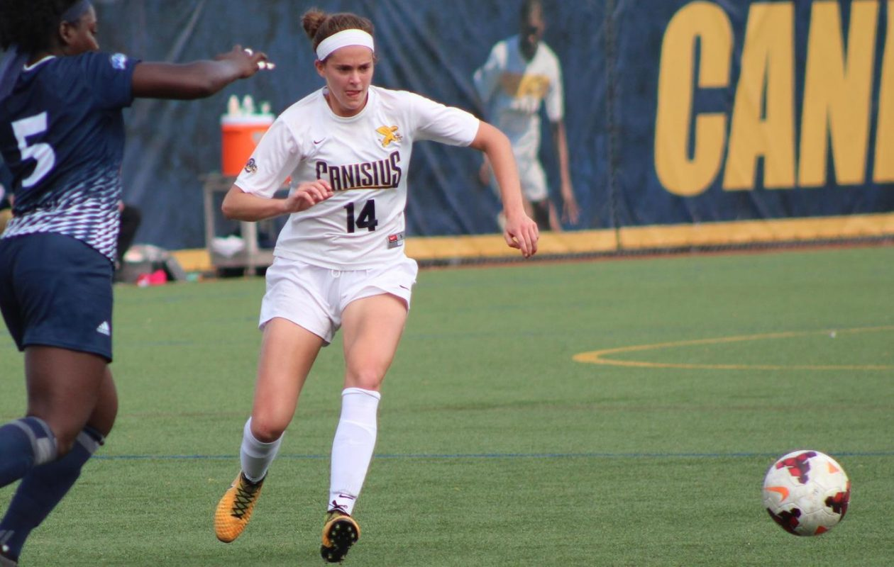 Junior forward Maddie Beaulieu has evolved into an offensive leader for the Griffs. (Marshal Filipowicz/Canisius Athletics)