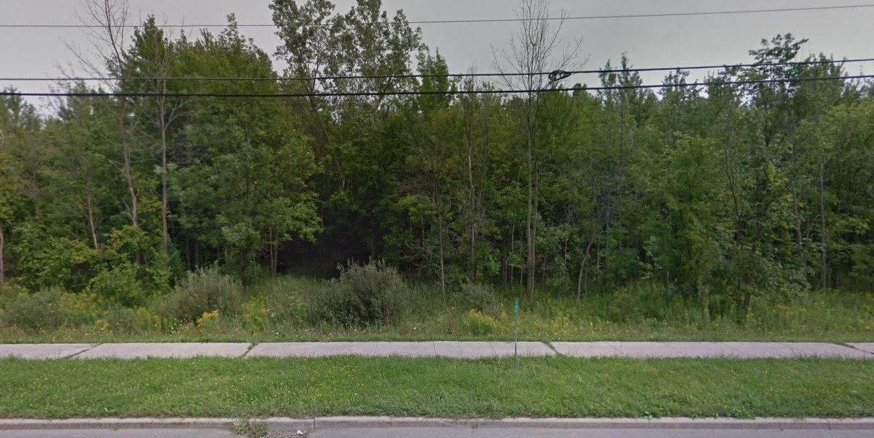 Bevilacqua Development paid $760,000 for this 36-acre piece of vacant land on Transit Road in Clarence. The company hasn't fleshed out its plans, but is eyeing a mixed-use building for the parcel. (Google Maps)