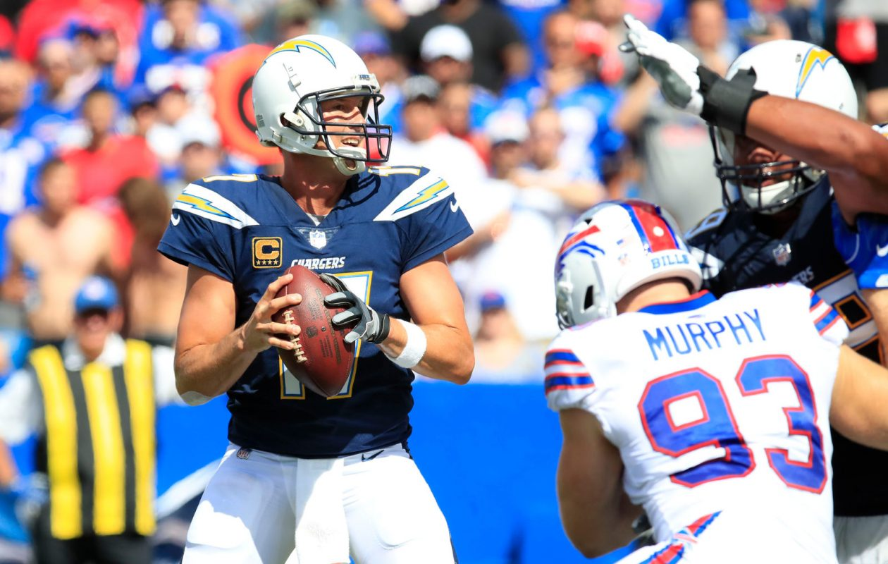 Philip Rivers and the Chargers beat the Steelers and Chiefs on the road in a span of five days. (Harry Scull Jr./Buffalo News)